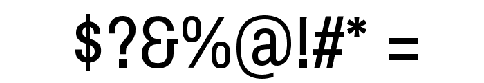 Archivo Narrow Regular Font OTHER CHARS