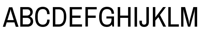 Archivo Narrow Regular Font UPPERCASE