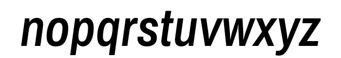 Archivo Narrow SemiBold Italic Font LOWERCASE