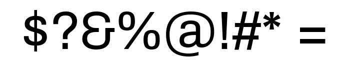 Archivo Regular Font OTHER CHARS