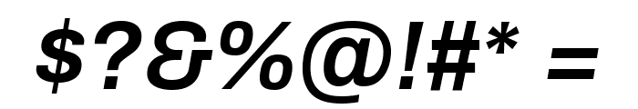 Archivo SemiBold Italic Font OTHER CHARS