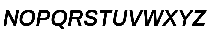 Archivo SemiBold Italic Font UPPERCASE
