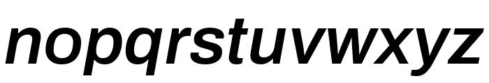 Archivo SemiBold Italic Font LOWERCASE