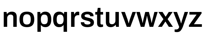 Archivo SemiBold Font LOWERCASE