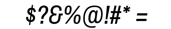 ArchivoNarrow-Italic Font OTHER CHARS