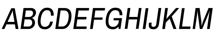 ArchivoNarrow-Italic Font UPPERCASE