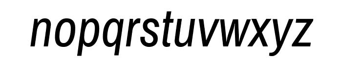 ArchivoNarrow-Italic Font LOWERCASE