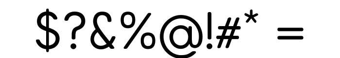 Arcon Rounded-Regular Font OTHER CHARS