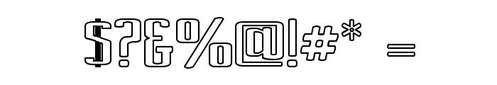 Ardour Outline Font OTHER CHARS