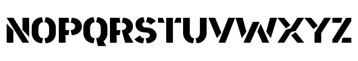 Area Stencil Font UPPERCASE