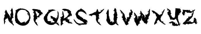 Arek Is So Grungey Font UPPERCASE