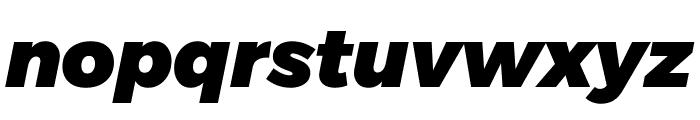 Argentum Novus Black Italic Font LOWERCASE