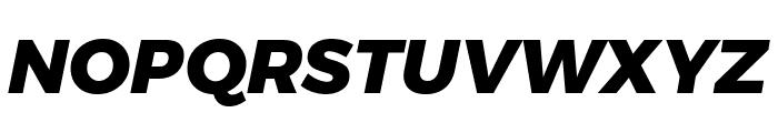 Argentum Novus ExtraBold Italic Font UPPERCASE