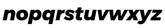 Argentum Novus ExtraBold Italic Font LOWERCASE