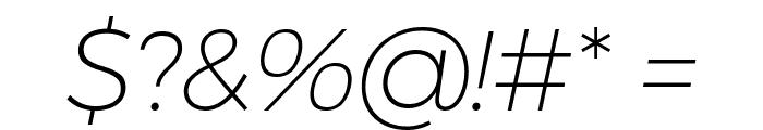 Argentum Novus ExtraLight Italic Font OTHER CHARS