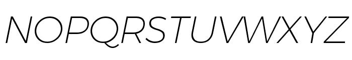 Argentum Novus ExtraLight Italic Font UPPERCASE