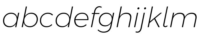 Argentum Novus ExtraLight Italic Font LOWERCASE