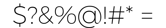 Argentum Novus ExtraLight Font OTHER CHARS