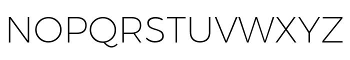 Argentum Novus ExtraLight Font UPPERCASE