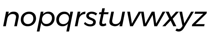 Argentum Novus Italic Font LOWERCASE