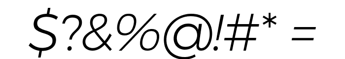 Argentum Novus Light Italic Font OTHER CHARS