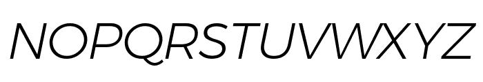 Argentum Novus Light Italic Font UPPERCASE