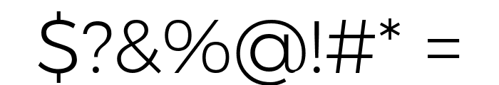 Argentum Novus Light Font OTHER CHARS