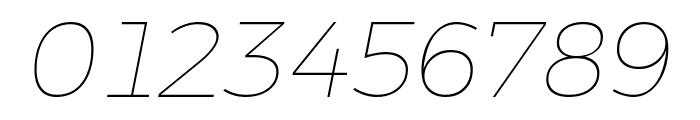 Argentum Novus Thin Italic Font OTHER CHARS