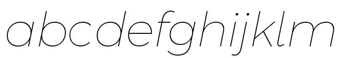 Argentum Novus Thin Italic Font LOWERCASE