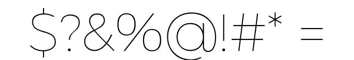 Argentum Novus Thin Font OTHER CHARS