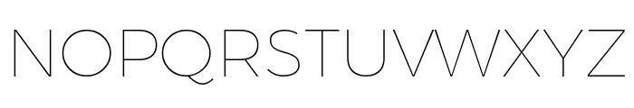 Argentum Novus Thin Font UPPERCASE