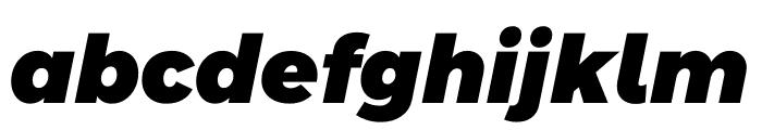 Argentum Sans Black Italic Font LOWERCASE