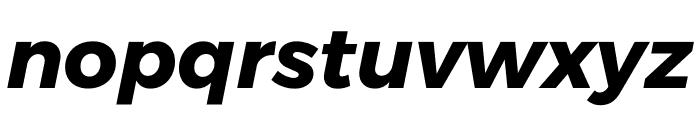 Argentum Sans Bold Italic Font LOWERCASE