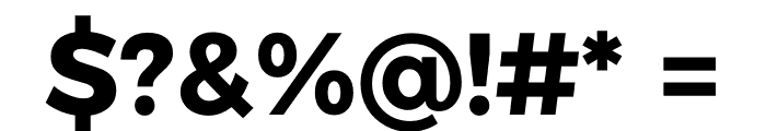 Argentum Sans Bold Font OTHER CHARS