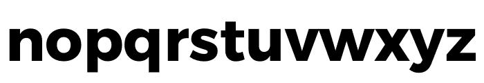 Argentum Sans Bold Font LOWERCASE