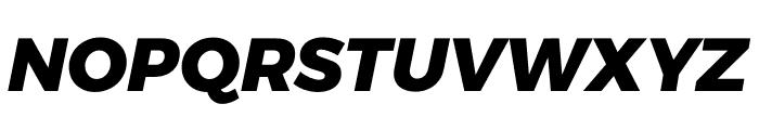 Argentum Sans ExtraBold Italic Font UPPERCASE