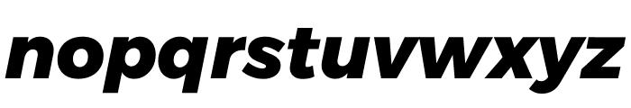 Argentum Sans ExtraBold Italic Font LOWERCASE