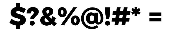 Argentum Sans ExtraBold Font OTHER CHARS