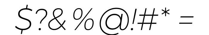 Argentum Sans ExtraLight Italic Font OTHER CHARS