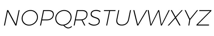 Argentum Sans ExtraLight Italic Font UPPERCASE