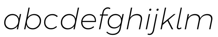 Argentum Sans ExtraLight Italic Font LOWERCASE