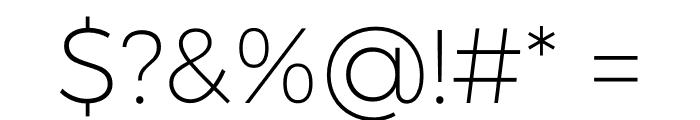Argentum Sans ExtraLight Font OTHER CHARS