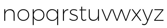 Argentum Sans ExtraLight Font LOWERCASE