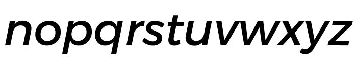 Argentum Sans Italic Font LOWERCASE