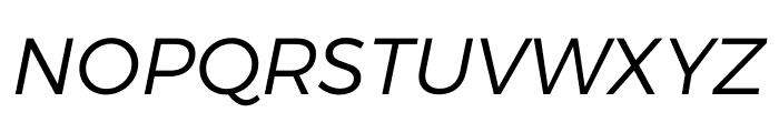 Argentum Sans Light Italic Font UPPERCASE
