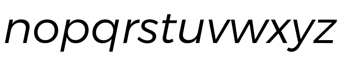 Argentum Sans Light Italic Font LOWERCASE