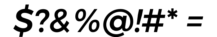 Argentum Sans Medium Italic Font OTHER CHARS