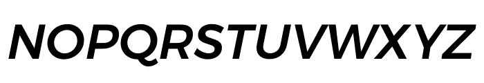 Argentum Sans Medium Italic Font UPPERCASE