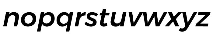 Argentum Sans Medium Italic Font LOWERCASE