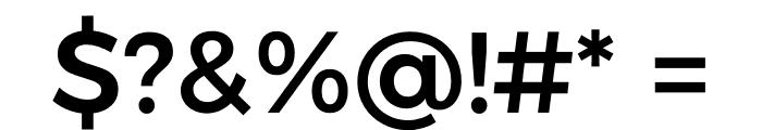 Argentum Sans Medium Font OTHER CHARS